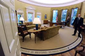 Trump In The Oval Office Trump Has Already Redecorated The Oval Office New York Post