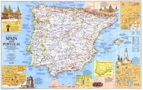 Portugal And Spain Map by 1984 Travelers Map Of Spain And Portugal Side 1 Historical Maps