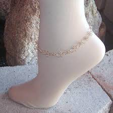 ankle bracelet jewelry images Intricate ankh link gold twist wire ankle bracelet wiregems on jpg