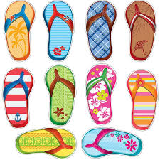 flip flop flip flops frenzy surfboard and flip flop 6 inch accents