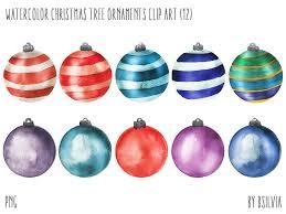 watercolor tree ornaments watercolor tree