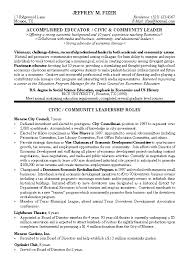 Sample Resume Format Resume Template by Civic Leader Political Resume Example