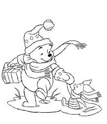 winnie and piglet christmas coloring pages printable christmas
