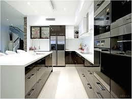 modern u shaped kitchen designs new black and white kitchens ideas elegant modern u shaped kitchen