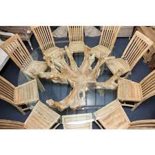 Sustainable Dining Table Reclaimed Teak Root And Reclaimed Teak Chair Balero Dining Set