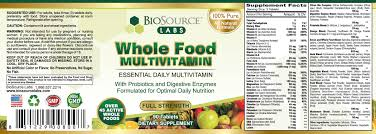 whole food multivitamin hcg complex diet