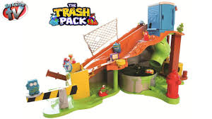 trash pack sewer dump slime playset unboxing video toy