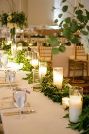 candle runners greenery and candle table runner photography wedding and weddings