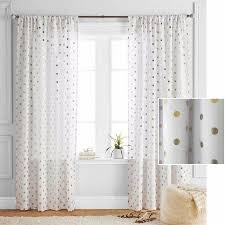 Sheer Gold Curtains White Gold Curtains Teawingco With Black Polka Dots Best 25 Dot