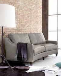 Gray Leather Sofa Curved Leather Foter