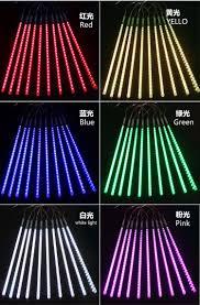 outdoor tube lighting twisty tube helical tube led meteor shower rain tube light