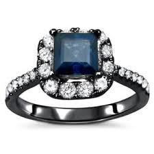 black and blue wedding rings black blue engagement rings for less overstock