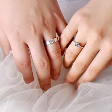 rings love couple images Crystal cz stone couple ring love struck chanhels corner jpg