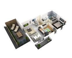 25 more 2 bedroom 3d floor plans