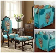 Luxury Velvet Upholstery Fabric Aliexpress Com Buy Luxurious American Style Floral Turquoise