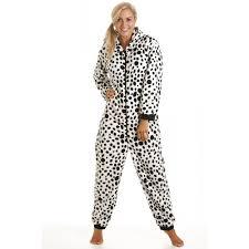 new womens dalmation nightwear onesie pyjamas all in one