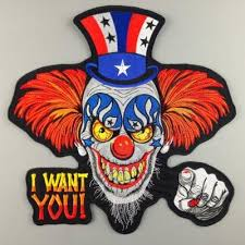 2018 iron on patches new harley rider embroidery patches clown