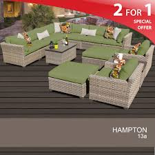 Hampton Patio Furniture Sets - hampton outdoor wicker sectional 13 piece patio set