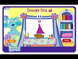 play doodle draw blues clues sailboat doodle draw