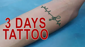 how to make tattoo at home for 3 days youtube
