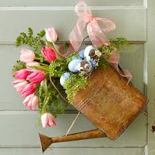 front door decor u2014 spring wreath alternatives