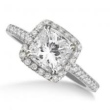 Cushion Cut Halo Diamond Engagement Ring In Platinum 37 Impressive Cushion Engagement Rings Without Halo In Italy Wedding