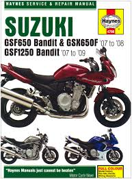 suzuki gsf650 1250 bandit and gsx650fservice and repair manual
