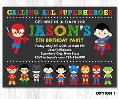 superhero invitation superhero birthday invitation by kidzparty