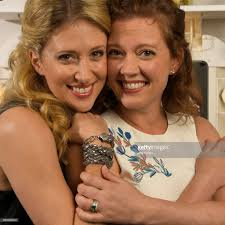 caissie levy and patti murin as elsa and her younger sister anna