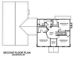 Georgian Floor Plan by Colonial Style House Plan 4 Beds 2 50 Baths 2480 Sq Ft Plan 446 1