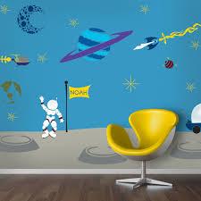Cartoon Wall Painting In Bedroom Outrageous Space Wall Mural Stencil Kit For Painting