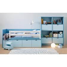 chambre enfant rangement lit enfant avec tiroir de rangement lit pour enfant 90x200cm avec
