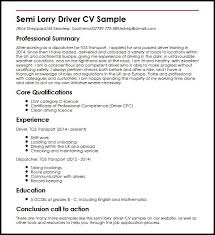 Resume For Driving Job by Local Driver Cover Letter