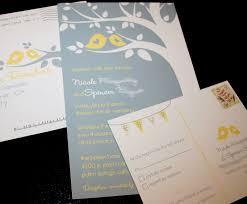 Invitation Programs Wedding Invitation Grey U0026 Yellow Birds Cakes Likes A Party