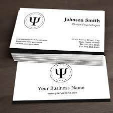 Design Your Own Business Cards Clinical Psychologist Psychology Psi Symbol Business Cards