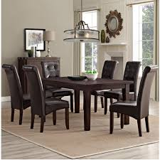 7 Piece Dining Room Sets Simpli Home Cosmopolitan 7 Piece Tanners Brown Dining Set Axcds7