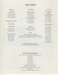 ann arbor civic theatre program hello dolly may 09 1984 ann
