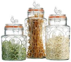 Glass Canisters Kitchen Gorgeous 30 Glass Kitchen Canisters Sets Design Inspiration Of