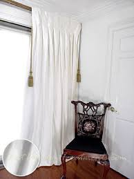 White Silk Curtains Thai Silk Pleated Draperies In Winter White Bestwindowtreatments