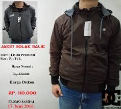 desain jaket warna coklat jaket parasut bolak balik ainul jaket