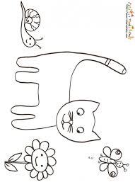 coloriage du chat et escargot coloriage tete a modeler