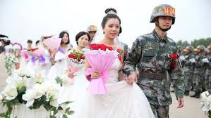 wedding china v day parade soldiers wedding all china women s