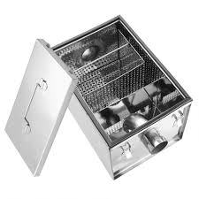 commercial stainless steel grease trap interceptor restaurant