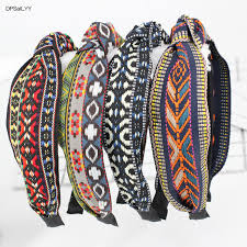 cloth headbands dpsailyy 1pc hot sale sport cloth headbands for women print black