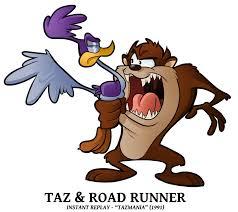 taz mania tamania cameos road runner u0027n taz by boscoloandrea on deviantart