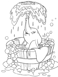 dumbo fountain coloring free printable coloring pages