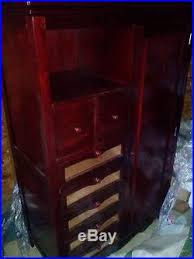 Dark Cherry Armoire Cherry Finish Cherry Wood Glass Drawer Bedroom Display Armoire