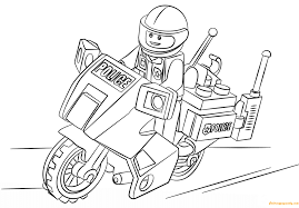 lego city motorcycle police coloring page free coloring pages online