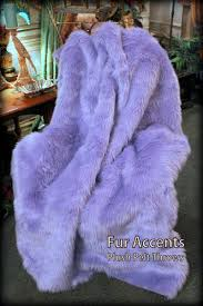 Fur Comforter Luxurious Lavender Orchid Faux Fur Throw Blanket Comforter