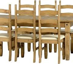 Waxed Pine Dining Table Waxed Pine Dining Table Corona Extending Dining Set With 6 Chairs